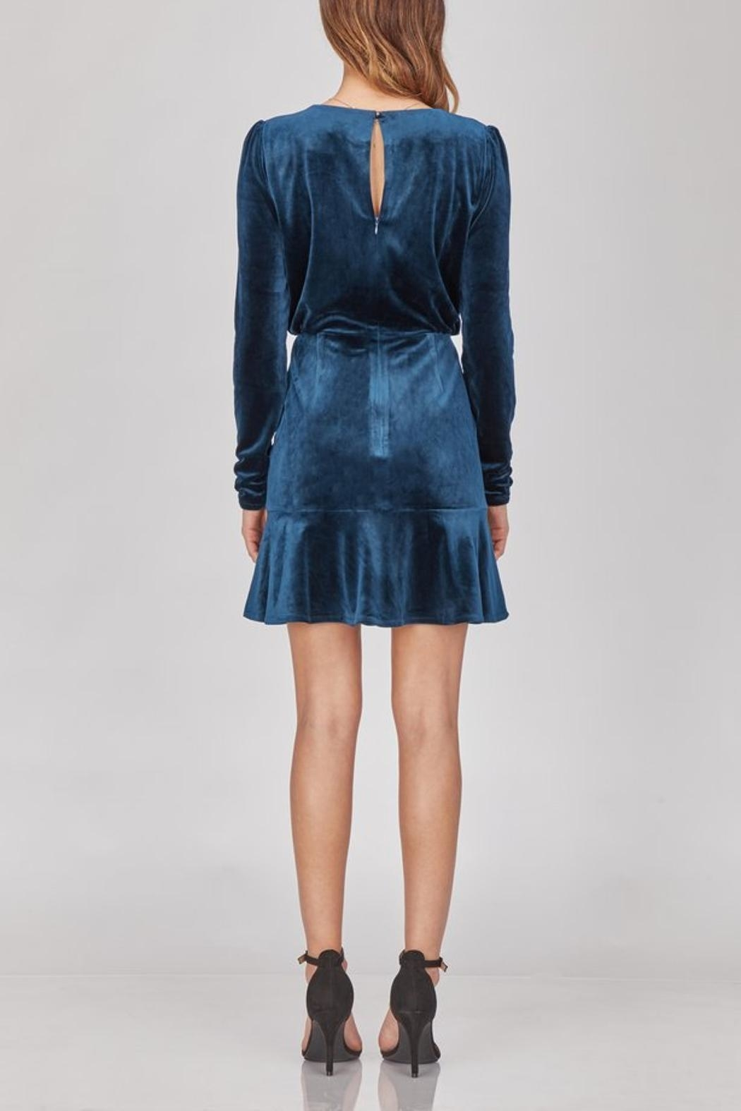 Greylin Luna Velvet Dress - Side Cropped Image
