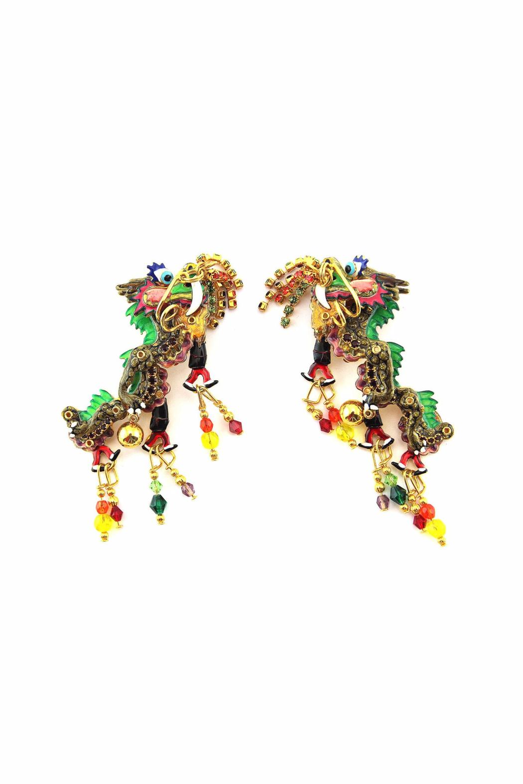 Lunch at the Ritz Dragon Clip On Earrings - Main Image