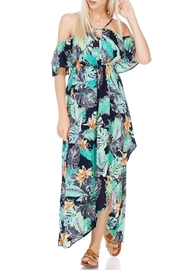 lunik Black And Green Floral Maxi - Product Mini Image