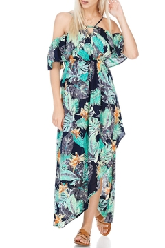 Shoptiques Product: Black And Green Floral Maxi