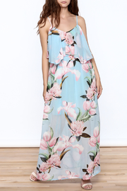 lunik Blue Floral Maxi Dress - Product Mini Image