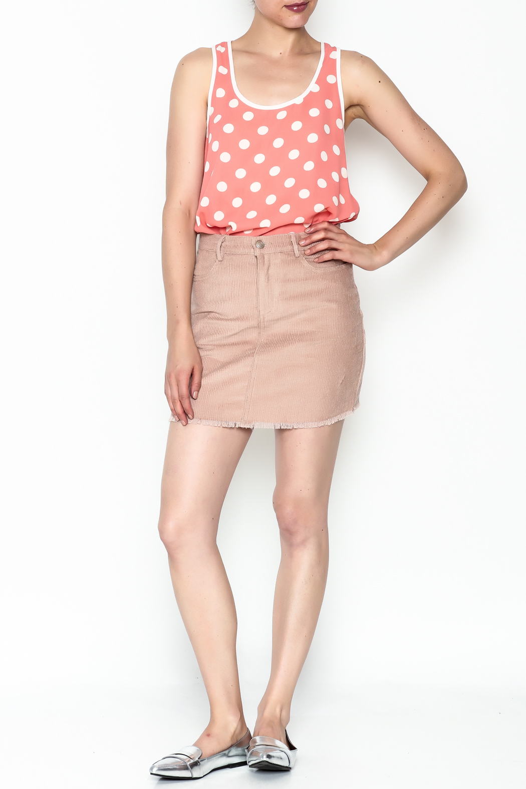 lunik Corduroy Skirt - Side Cropped Image