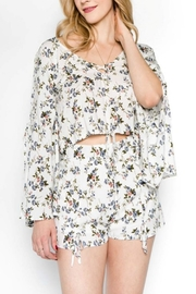 lunik Floral Crop Top - Product Mini Image
