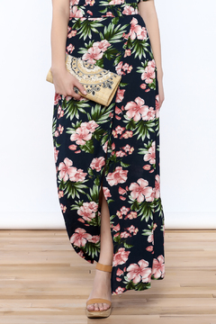 Shoptiques Product: Navy Floral Maxi Skirt