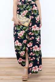 lunik Navy Floral Maxi Skirt - Product Mini Image