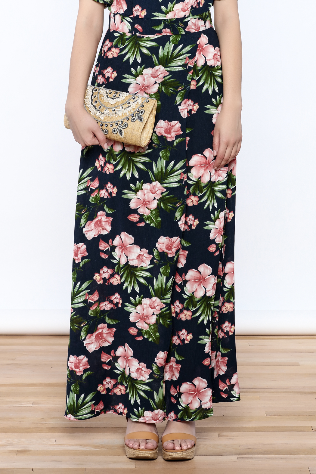 lunik Navy Floral Maxi Skirt from Manhattan by Dor L'Dor — Shoptiques