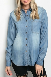 lunik Light Denim Top - Product Mini Image