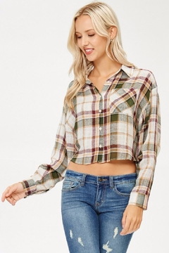 Shoptiques Product: Plaid Collared Shirt