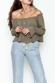 lunik Ruffle Shoulder Top - Product Mini Image