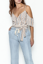 lunik Stripe Crop Top - Product Mini Image
