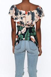 lunik Floral Front Tie Top - Back cropped