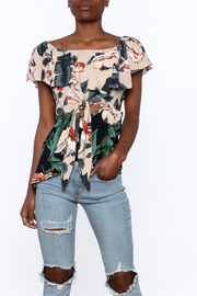 lunik Floral Front Tie Top - Product Mini Image