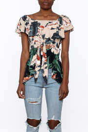 lunik Floral Front Tie Top - Side cropped