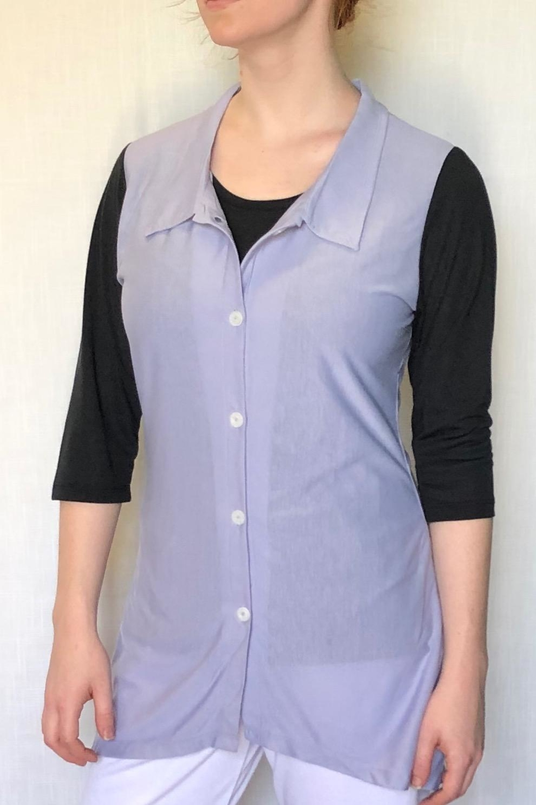 Lur Two Tone Tunic - Side Cropped Image
