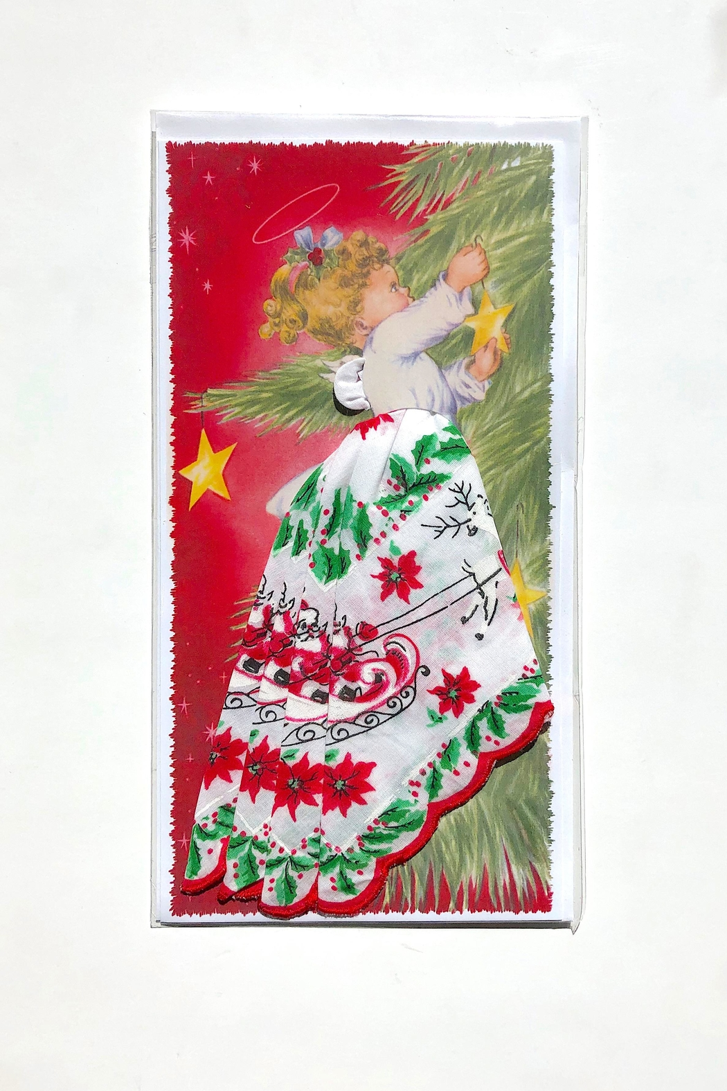 LuRay Collection Christmas Hankie Card - Main Image