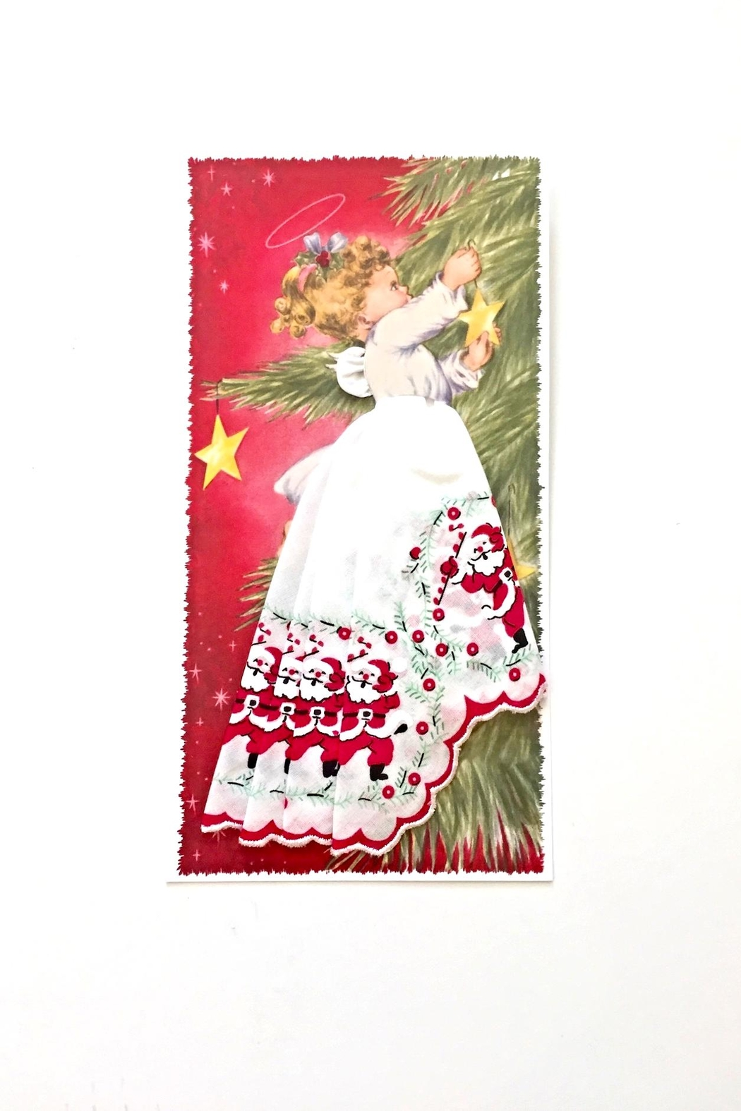 LuRay Collection Holiday Handkerchief Card - Front Cropped Image