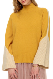 Stellah Lurex Bell Sleeve Sweater - Front cropped