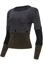 Yal NY Lurex black/gold/silver sweater - Front full body