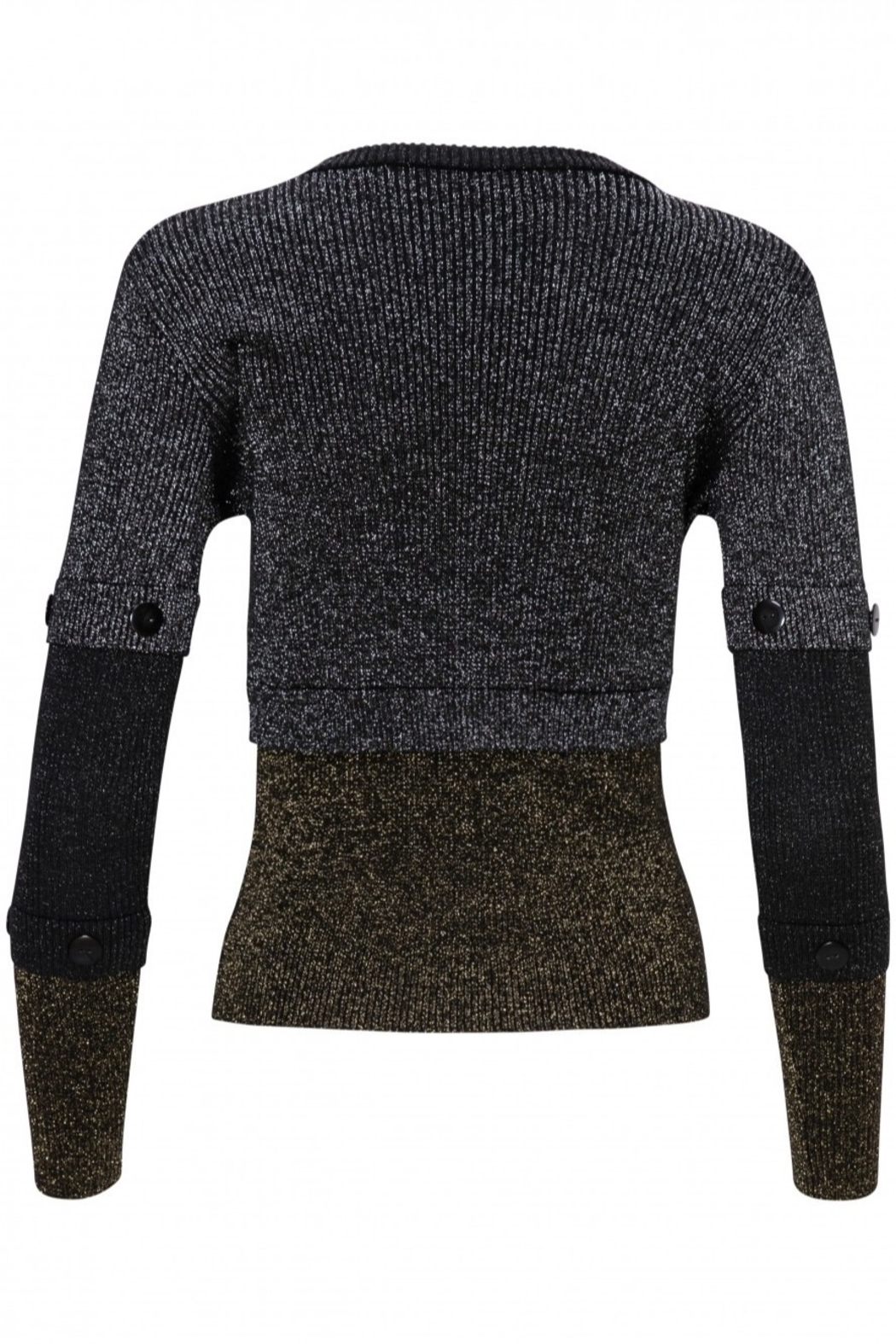Yal NY Lurex black/gold/silver sweater - Side Cropped Image