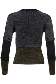 Yal NY Lurex black/gold/silver sweater - Side cropped