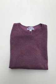 Meli by FAME LUREX CREW SWEATER LS - Front cropped