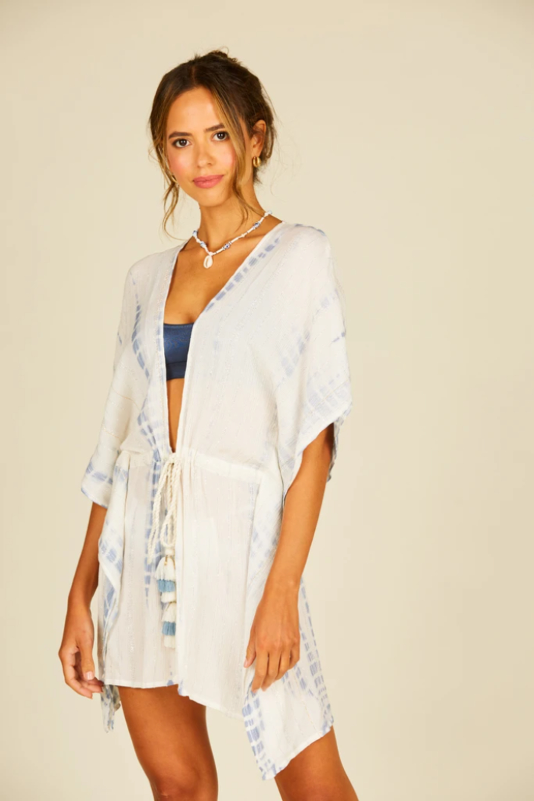 Surf Gypsy Lurex Drawstring Coverup - Main Image
