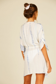Surf Gypsy Lurex Drawstring Coverup - Front full body