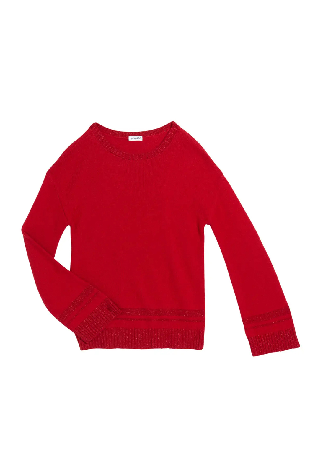 Splendid Lurex Knit Sweater - Front Cropped Image