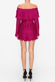 Endless Rose Lurex Pleated OTS Romper - Side cropped