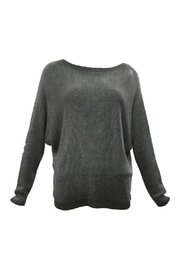 Femme Fatale Lurex Sweater w Back Zipper - Product Mini Image