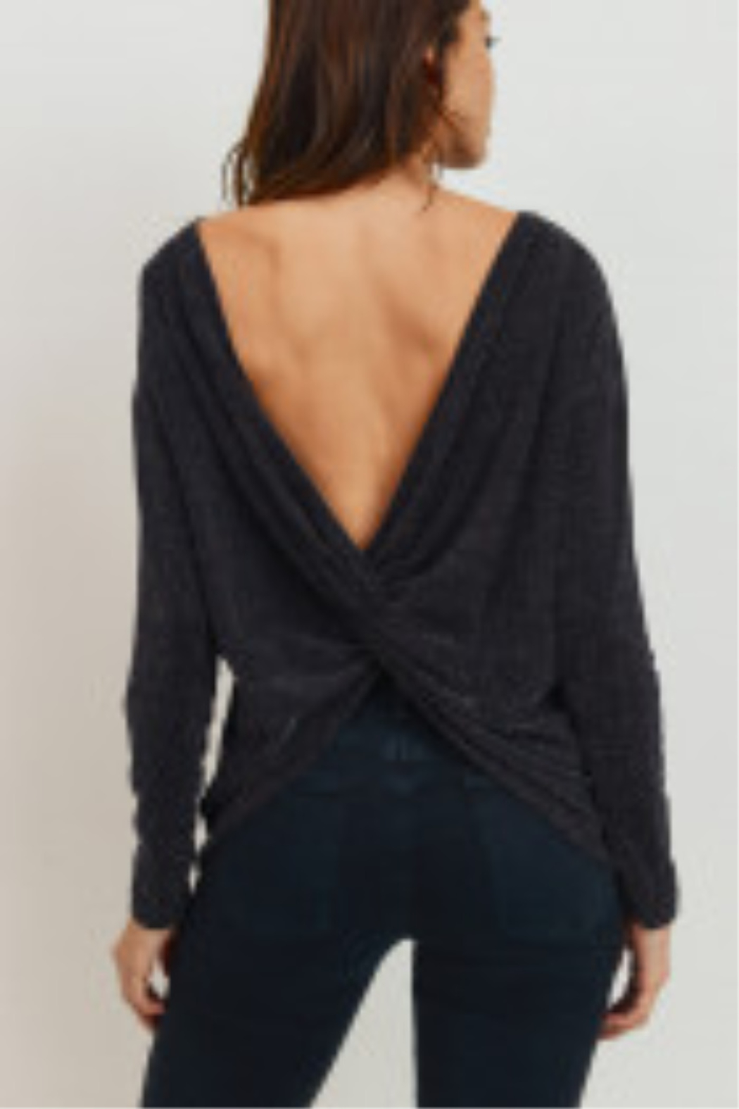 Lyn -Maree's Lurex Twist Back Top - Front Cropped Image