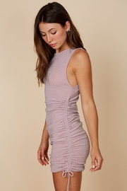 blue blush Lurey Ruched Dress - Front full body