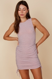 blue blush Lurey Ruched Dress - Front cropped