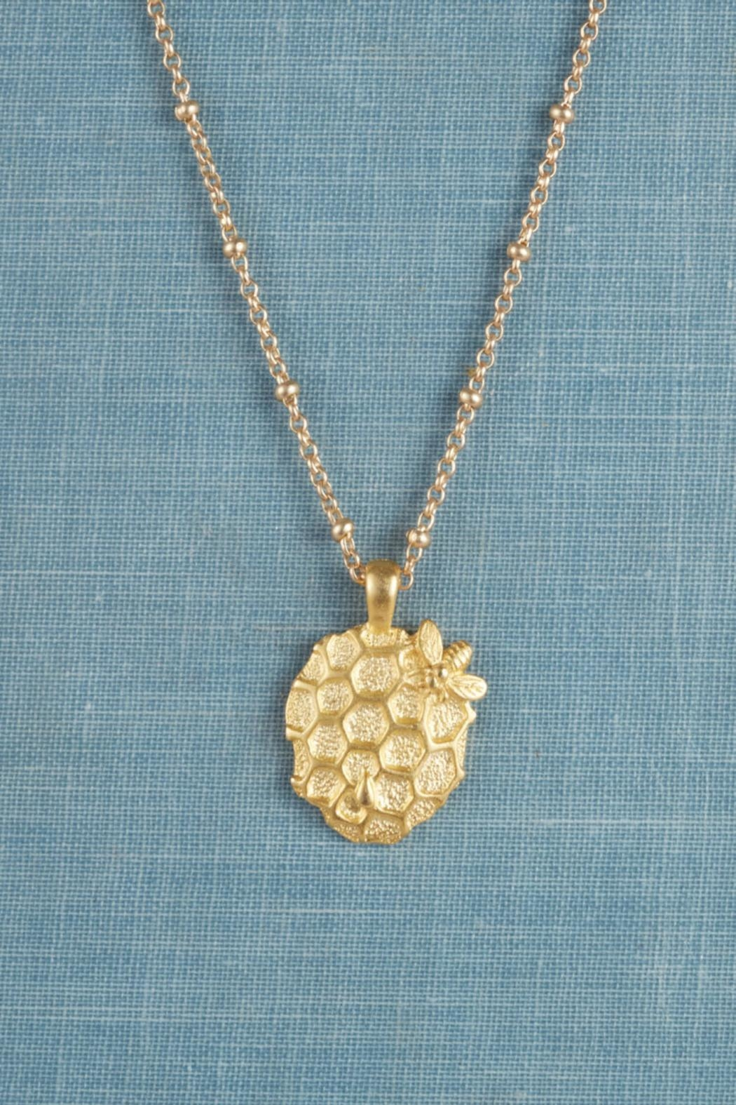 Luscious Jewelry PDX Honeycomb Necklace - Front Cropped Image