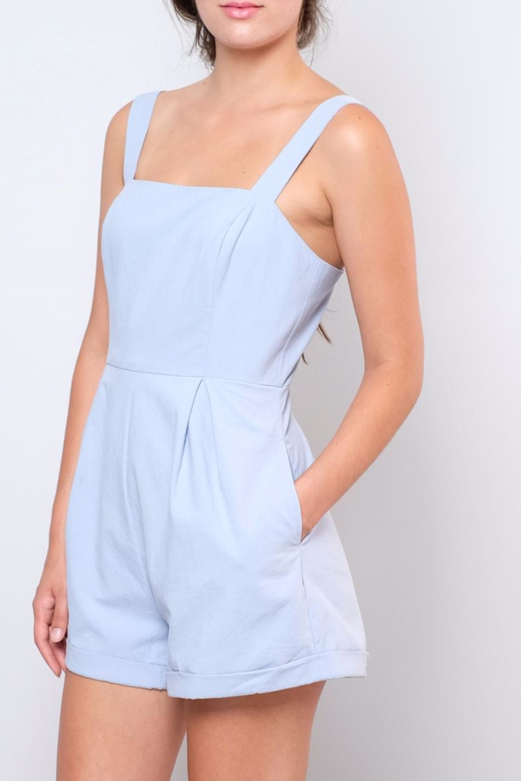Lush Apron Style Romper - Side Cropped Image