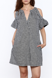 Lush Gingham Cold Shoulder Dress - Product Mini Image