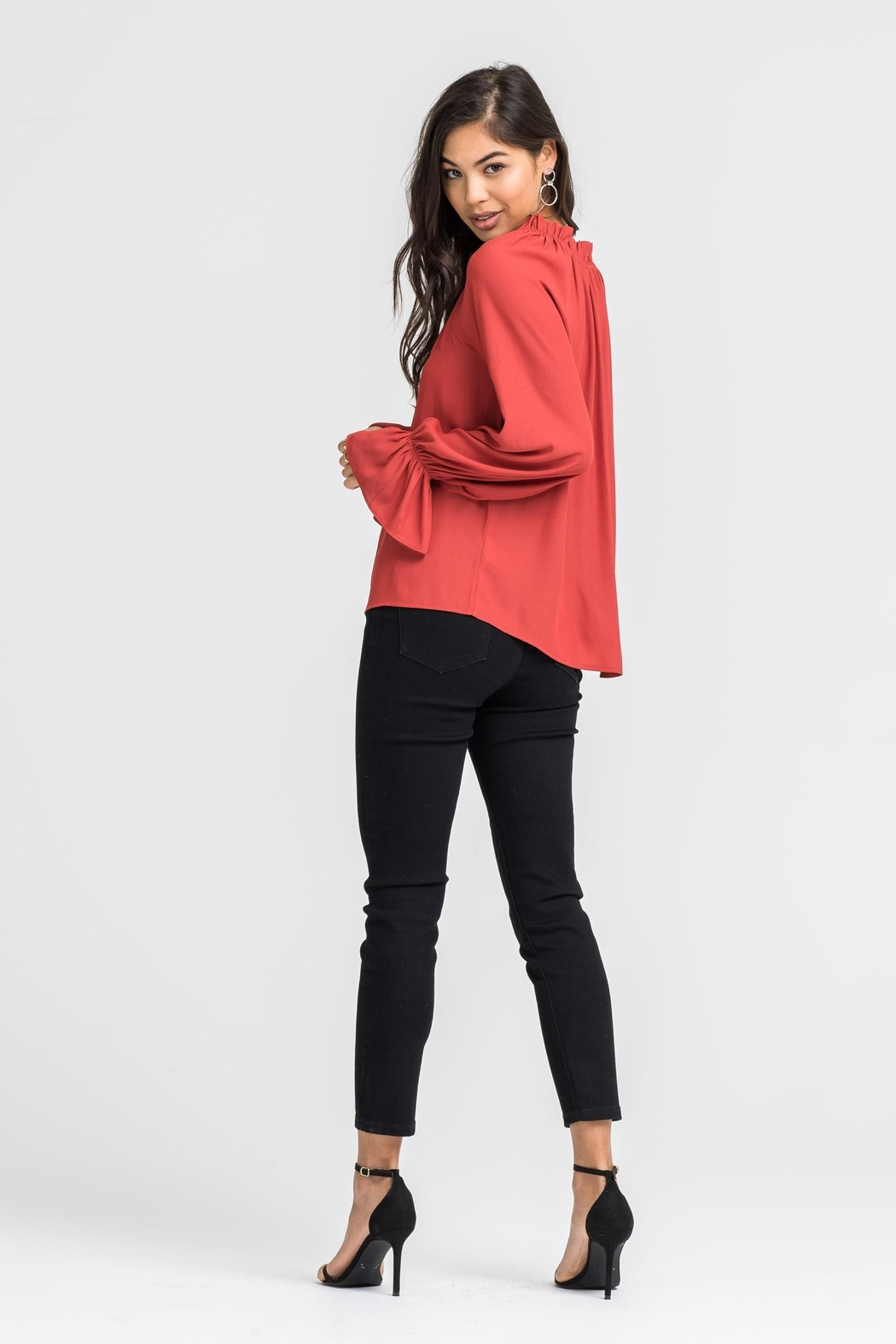 Lush Bell Sleeve Blouse - Side Cropped Image
