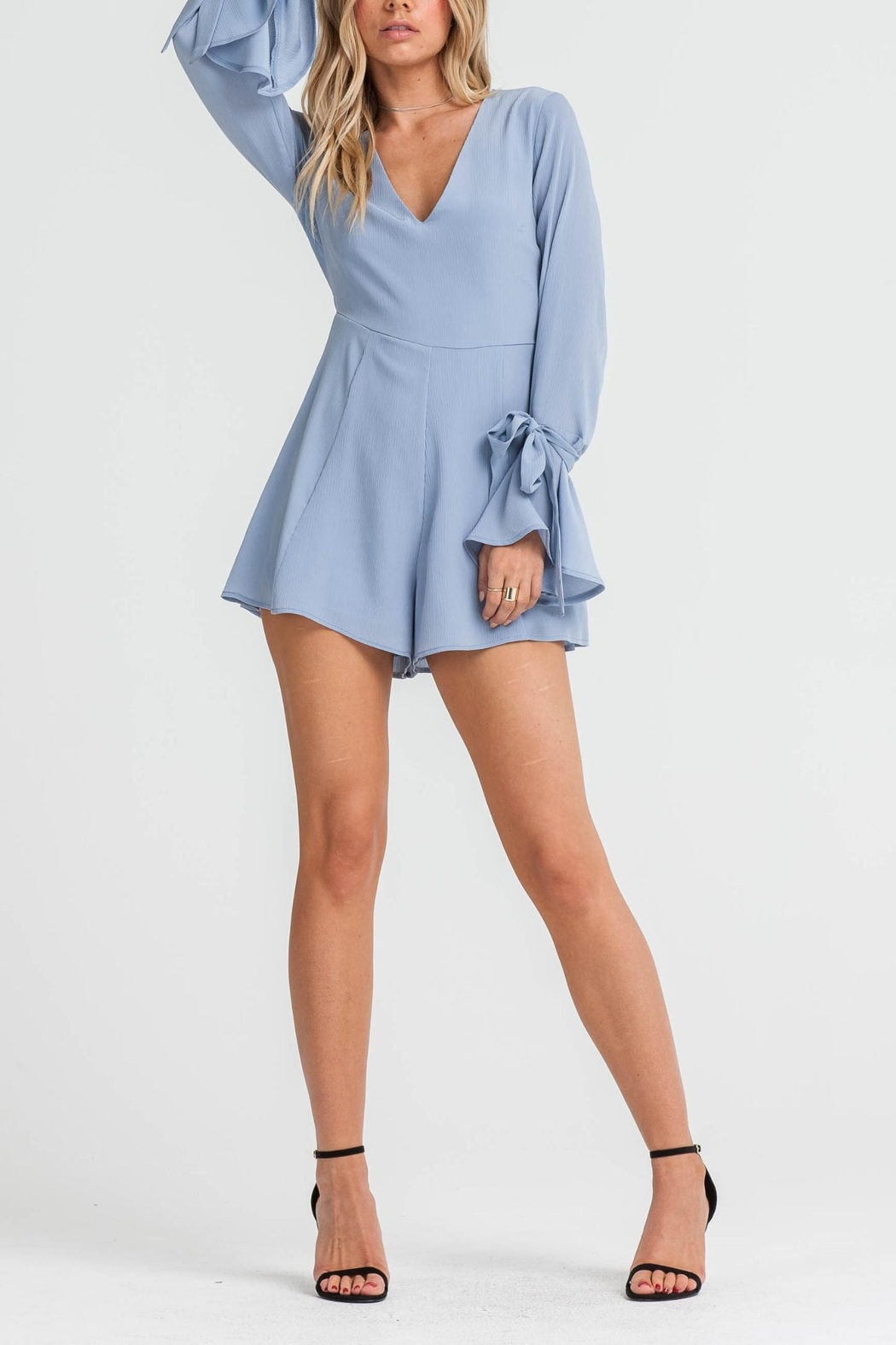 Lush Bell Sleeve Romper - Front Cropped Image