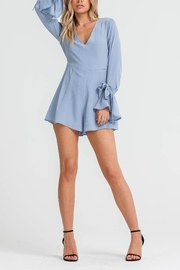 Lush Bell Sleeve Romper - Front cropped