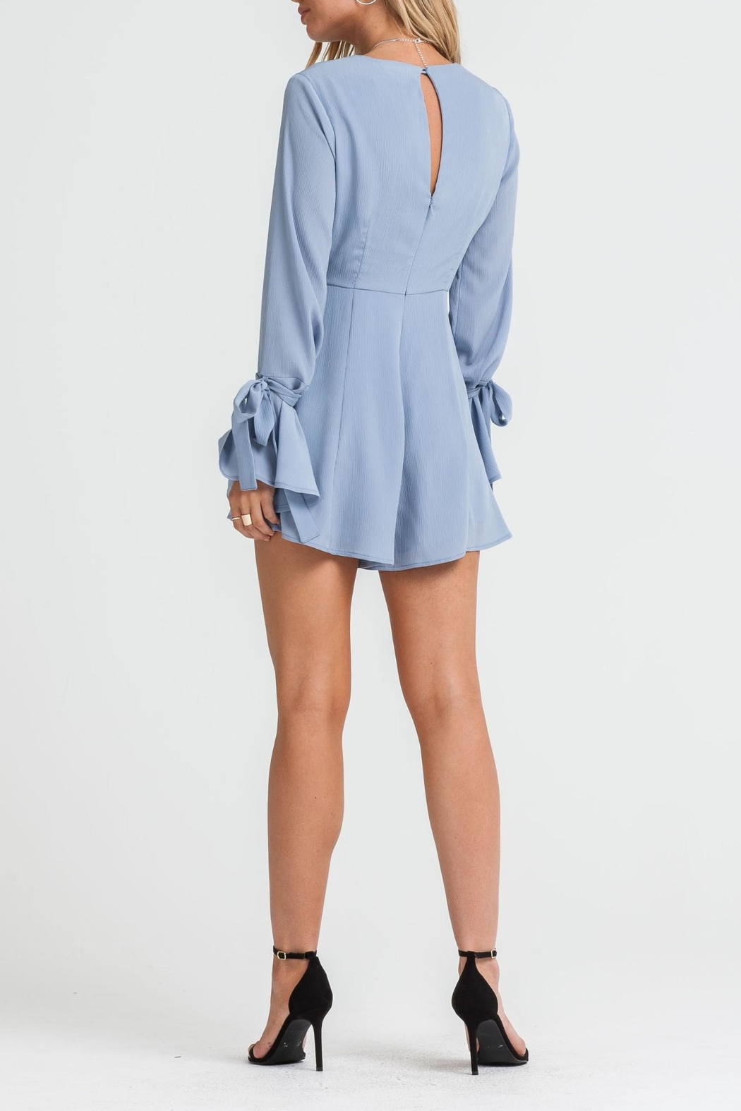 Lush Bell Sleeve Romper - Side Cropped Image