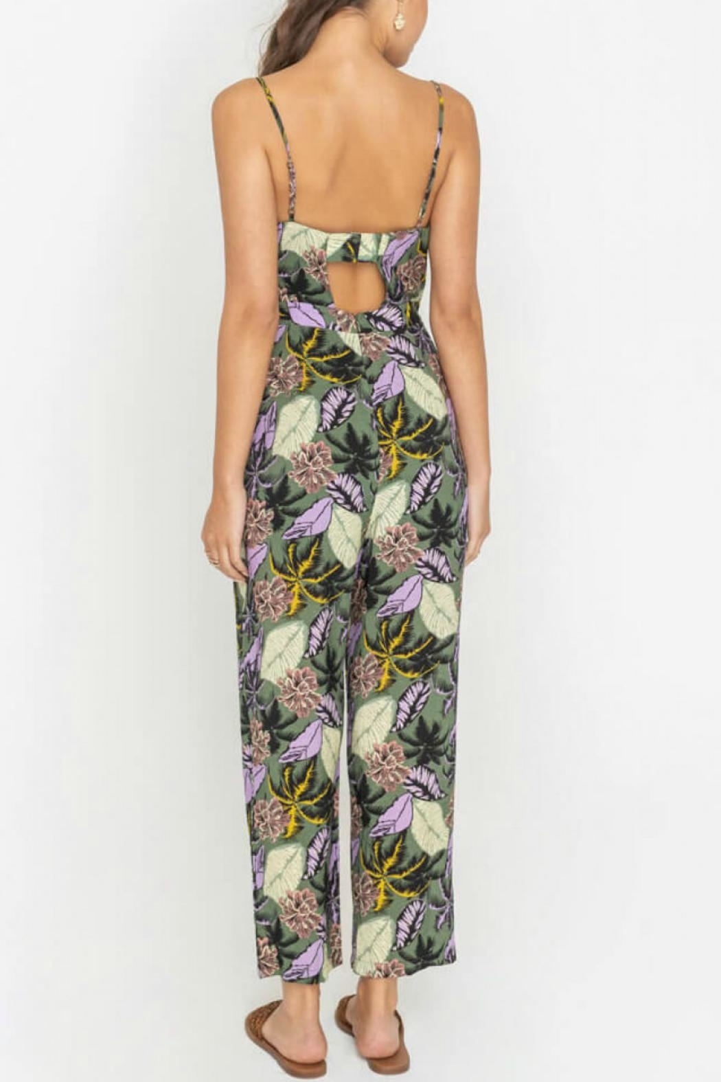 Lush Belted Floral Jumpsuit - Front Full Image
