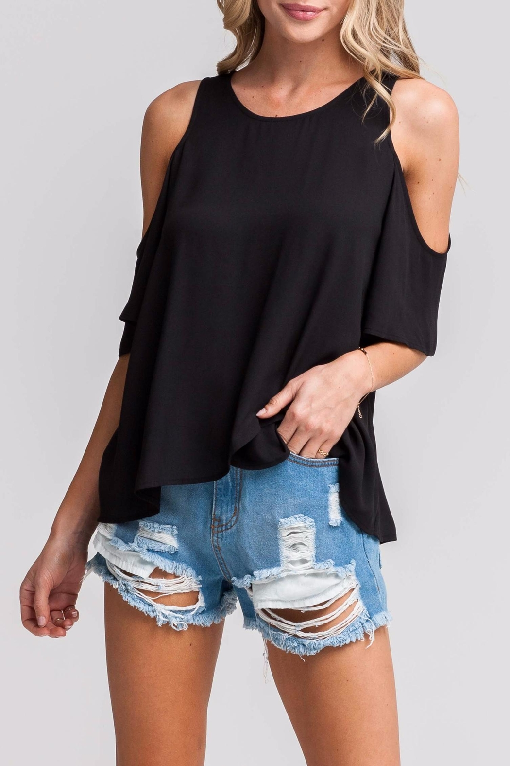 981f407dcd253 Lush Black Cold-Shoulder Top from Los Angeles by AndyLiz Boutique ...