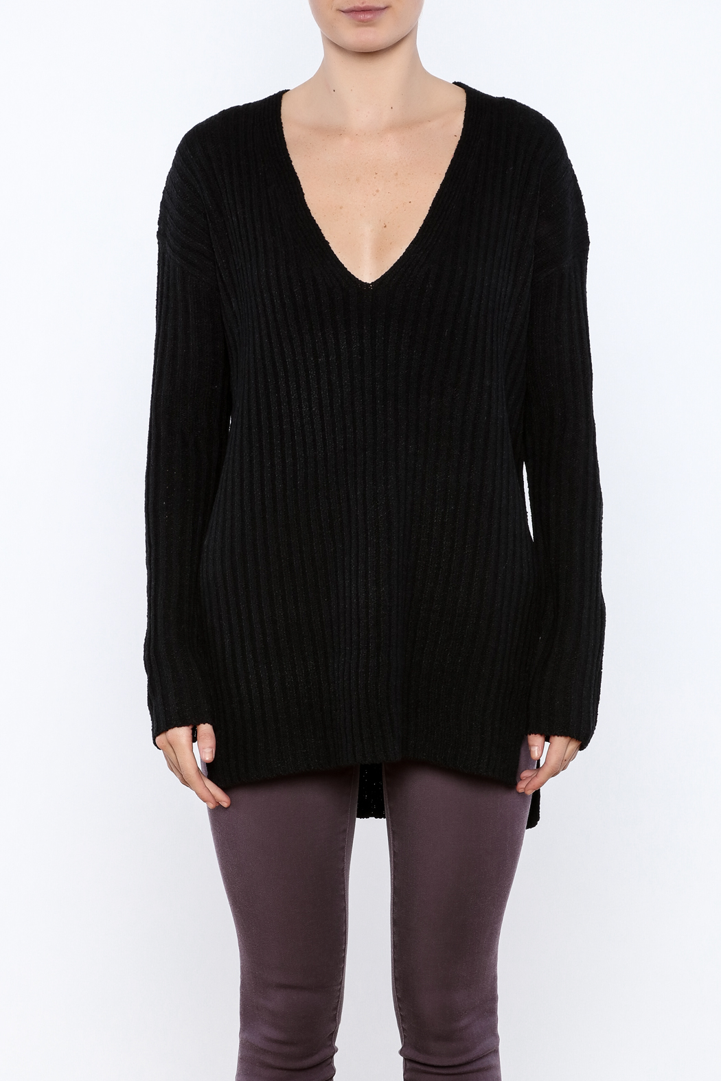 Lush Black Oversized Sweater from North Shore by Vamped — Shoptiques