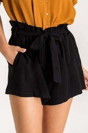 Lush Black Paperbag Shorts - Product Mini Image
