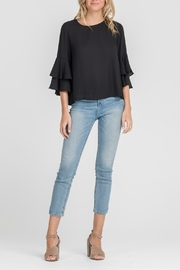 Lush Black Ruffle Blouse - Product Mini Image