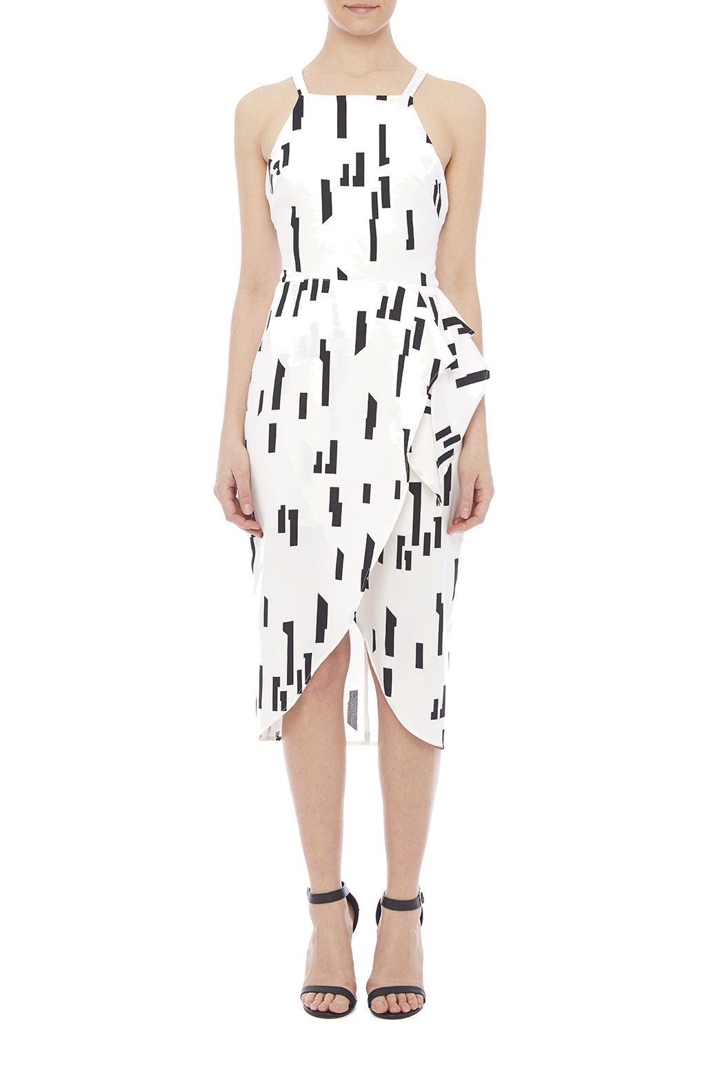 Lush Ivory Printed Dress - Front Cropped Image