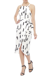 Lush Ivory Printed Dress - Front full body