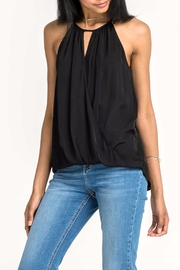Lush Black Sleeveless Surplice Top - Product Mini Image