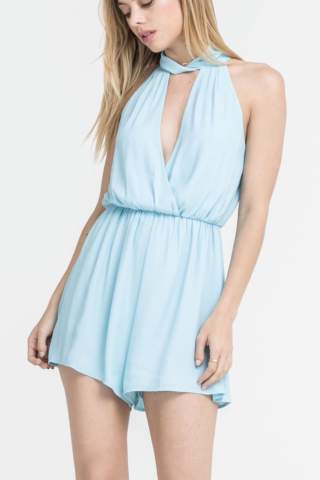 60230e782870 Lush Blue Halter Romper from Florida by Apricot Lane St. Armands ...