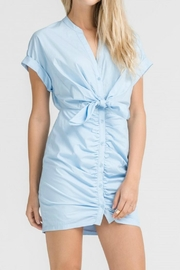 Lush Blue Poplin Dress - Product Mini Image